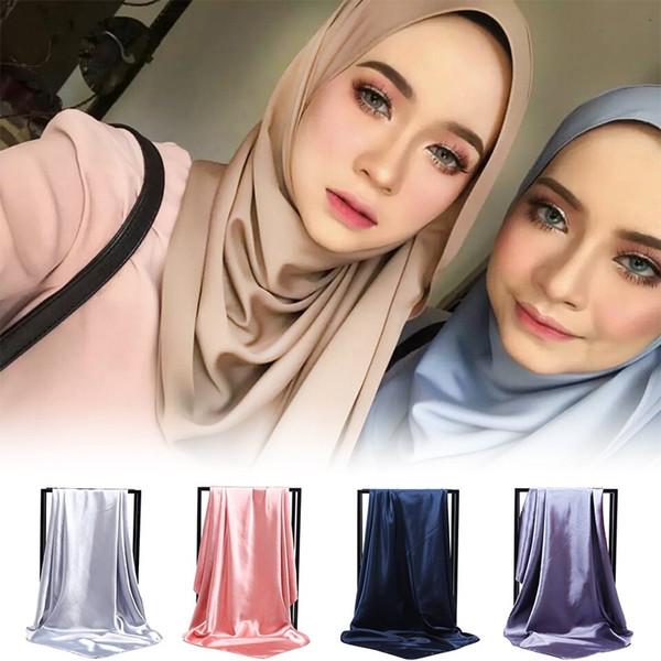 Mulheres bandana planície bolha chiffon hijabs muçulmano envoltório de pano xales de cor sólida headband maxi cachecol xale lenços mulheres 2019