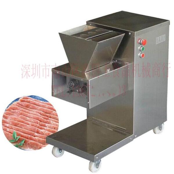 Ücretsiz kargo hızlı express tarafından gönderilen 110 v 220 v QW Modeli Et Kesici Restoran Et Dilimleme Makinesi 800 KG / saat et kesme makinası