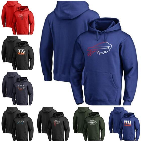 Cincinnati Chicago Buffalo Carolina York Herren Giants Jets Panther Rechnungen Bären Bengals Pro Line Kollektion Pullover Hoodie