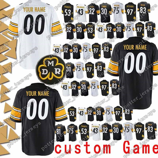 low priced 8e287 8bf13 2019 Pittsburgh Jerseys Steeler 75 Joe Greene 11 Markus Wheaton 10 Martavis  Bryant 53 Maurkice Pouncey 50 Ryan Shazier Jersey Custom Game From ...