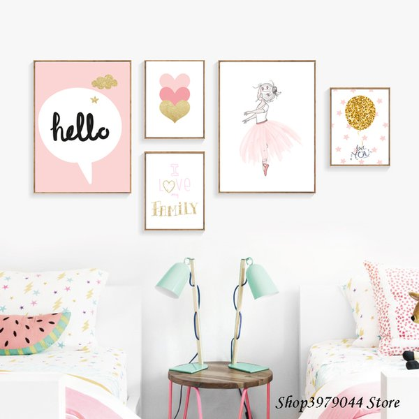 2019 Baby Girl Room Decor Wall Art Paintings Posters And Prints Baby Room  Wall Decoration Cartoon Pink Decoracion Nordica Unframed From Copy02,  $35.29 ...