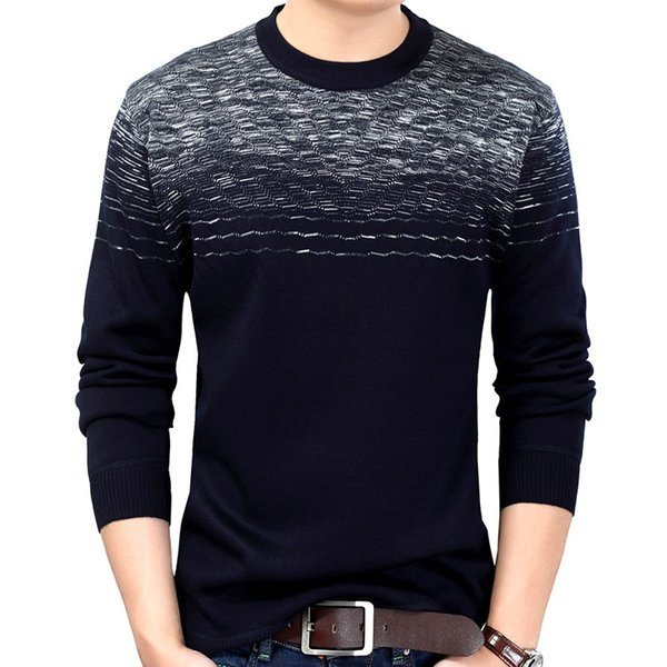New Brand Mens Wear Slim Fit Knitwear Designer Pullover Striped Men Sweater Dress Thick Winter Warm Jersey Knitted Sweaters