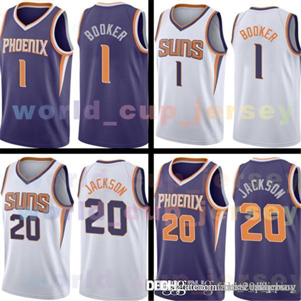 PHOENIX Jersey SUNS Mens 1 Devin Booker Basketball Jerseys 20 Josh Jackson  Adult SIZE S- bc6bddde2