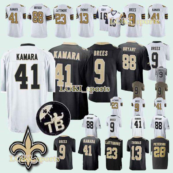 New Orleans 33 Saints jerseys 41 Alvin Kamara 9 Drew Brees 23 Marshon  Lattimore 13 Michael Thomas new jersey 922aff4c1