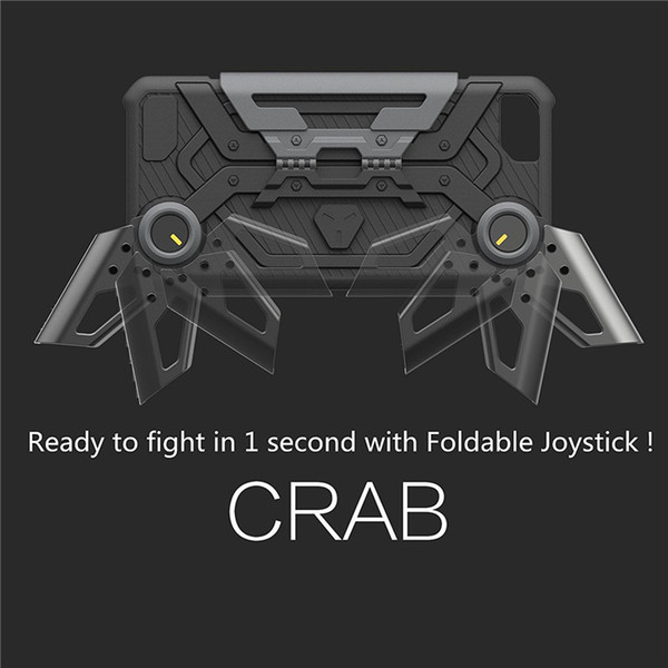 Foldable Joystick Crab Shell Game Handle Hybrid PC Back Case Cellphone Protection Case Cover For iPhone Fashion Case