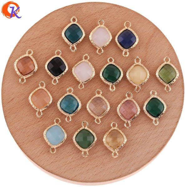 Cordial Design 50Pcs 13 * 19MM Accessoires Bijoux / Fabrication de boucles d'oreilles bricolage / Connecteurs en cristal / Bijoux Charms / Fait à la main / Boucle d'oreille
