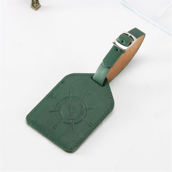 Zoukane Portable Compass Leather Suitcase Luggage Tag Label Bag Pendant Handbag Travel Accessories Name ID Address Tags LT15A