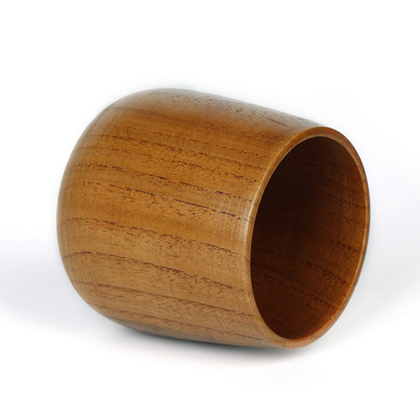 14pcs Japanese Style Wood Tea Mugs Cup Natural Wooden Wine Mug Beer Wine Tea Cups Round free shipping