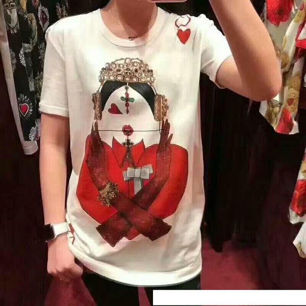 2018 neue Ankunfts-fantastisches Königin-Hemd und Frauen-Sommer-T-Shirt Bestseller-T-Shirts weiße Farbe