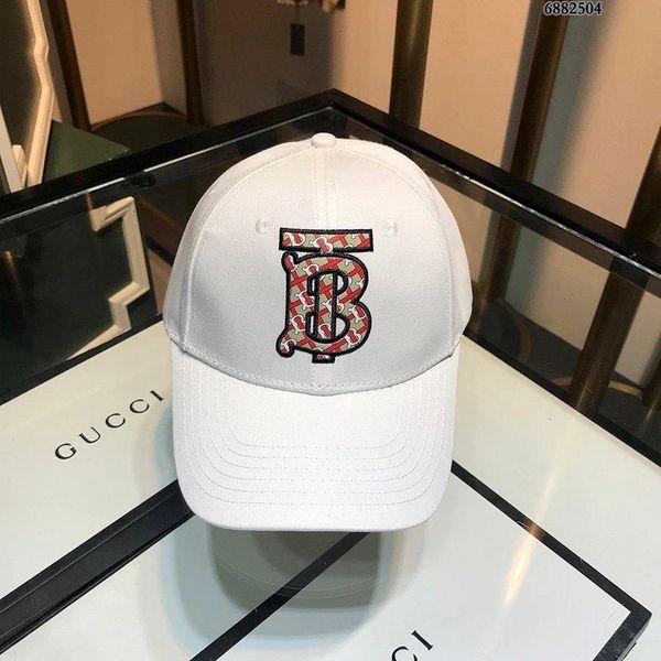 Diseñador de moda de lujo sombreros gorras gorra de béisbol para mujer para hombre bordado sombreros ajustables blanco de alta calidad con caja y paquete de bolsa