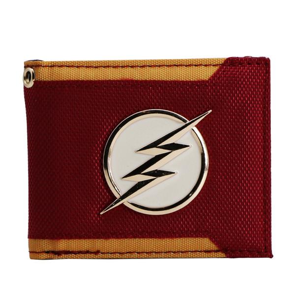 DC Comic La borsa portafogli bi-piega serie Flash TV Show con Flash e simbolo STAR LAB