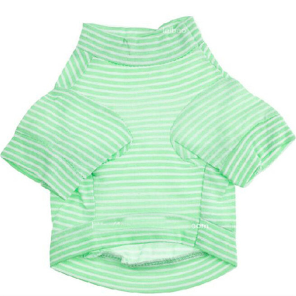 Cotton Pet Dog Shirt Spring Summer Dog t shirt Small Dog Clothes Puppy Shirts Drop Shirt Stripes Cool Clothing For Chihuahua Teddy 4 Colors