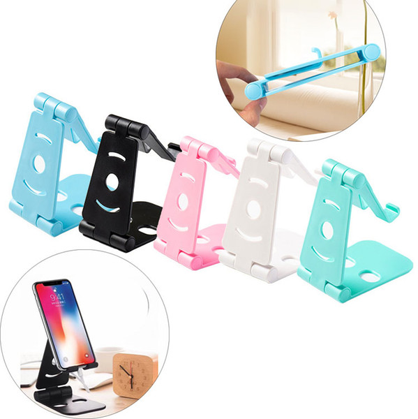 Ayarlanabilir Katlanır Cep Telefonu Masaüstü iPhone Samsung PC için Evrensel Standı Tutucu Cradle Katlanabilir Tablet Montaj Braketi