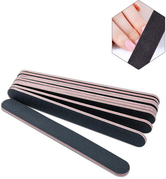 100 Unids Nail Art Sanding Salon Buffer Uñas Limas Manicura UV Gel Pulidor Manicura Pedicura Uñas Herramientas 18 * 2 cm
