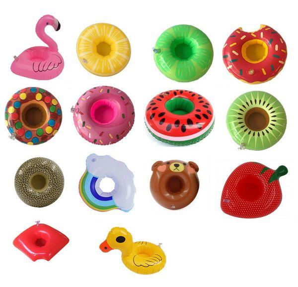 Bevande giocattolo gonfiabile Portabicchieri Anguria limone fenicottero Piscina Galleggianti Sottobicchieri Dispositivi di galleggiamento Kid Bambini feste in piscina Bagno giocattolo
