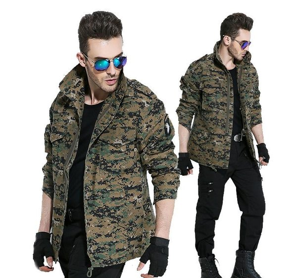 Men Army Camouflage Clothes Military Style Tactical Jackets For Men Pilot Coat US Army M65 101 Air Force Bomber Jacket Coat Coats Clothing Jackets And