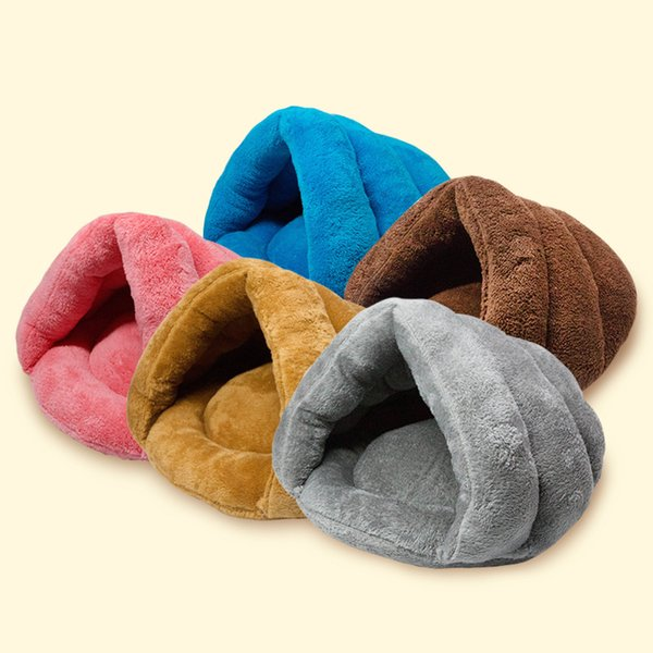 SIZE 50*40*30CM New Arrival Warm Comfortable House Kennel Bed Multi-function Pet Cat Dog Fleece Sleeping Bag &Cushion