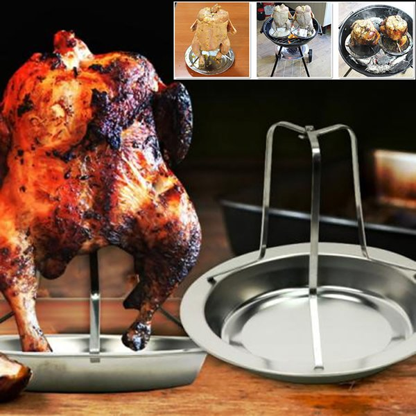 Thanksgiving Turkey Chicken Duck Grill Holder Rack Stand Roasting BBQ Rib Non Stick Stainless Steel Kitchen Tool