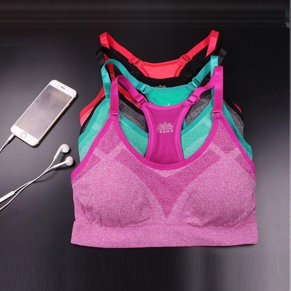 Fitness Sport Shirt Women Yoga Shirt Running Push Up Yoga Top Gym Women Athletic Vest Padded Brassiere Sport Soutien Gorge #103966