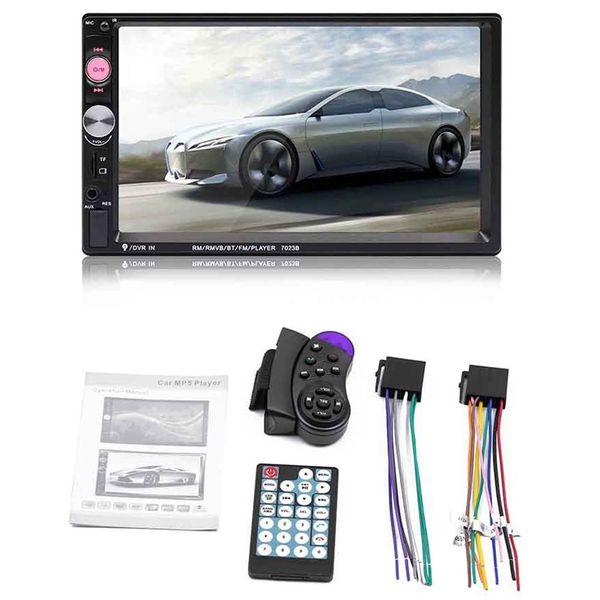 7023B 2 din Lecteur Audio Multimédia Car Stereo Radio 7 pouces MP5 HD à écran tactile lecteur Bluetooth Support Caméra FM USB SD Aux