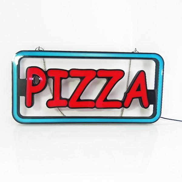 La hora de negocios modificada para requisitos particulares diseño modificado para requisitos particulares al aire libre llevó la muestra de neón de la publicidad de la muestra de neón de la pizza para la tienda de pizza