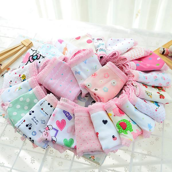 (8 pcs/lot) lovely mixed color 2-11 years children girls panties cartoon thermal underwear for children wef114 thumbnail