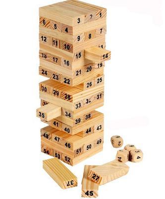 China Supplier Hot Funny Popular Kids Wooden Building Block Set Wooden Large Digital Stack Children Puzzle Building Blocks Toy