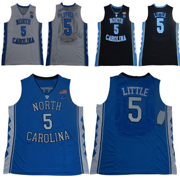 Men college North Carolina Tar Heels jerseys white blue black #5 Nassir Little adult size basketball jersey stitched mix order free shipping