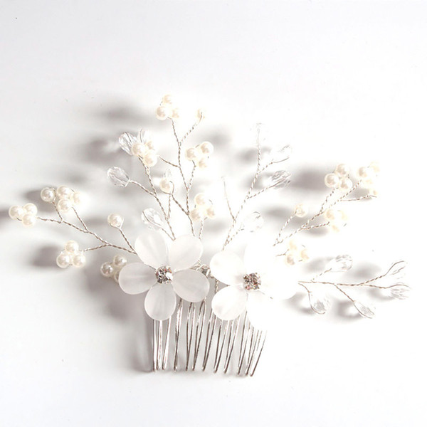 bridal jewelry accessories flower prom gift party time saving head ornaments rhinestone insert elegant hair combs women wedding