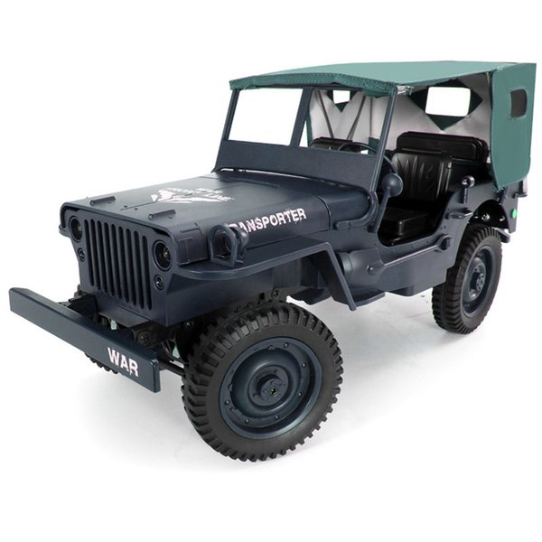 wholesale Q65 Mini RC Car 2.4G 1/10 Jedi Proportional 15/h Remote Control Crawler Military RC Car With Canopy LED Light Toy