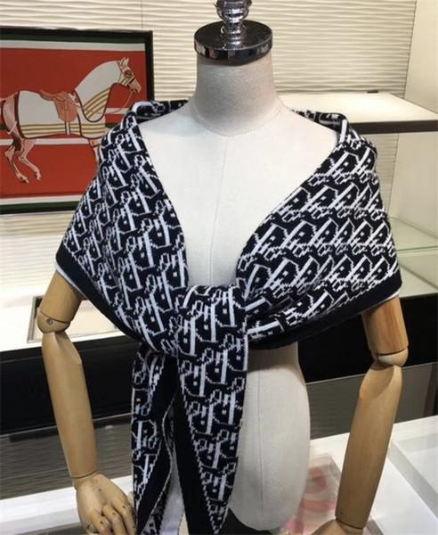 son eşsiz tasarımcı elmas örgü yün sonbahar kış mektup eşarp şal klasik moda kadın şal