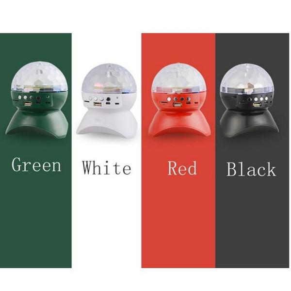 Bluetooth-динамик со встроенным световым шоу для вечеринки / дискотеки DJ Stage Studio Эффекты освещения RGB Изменение цвета LED Хрустальный шар