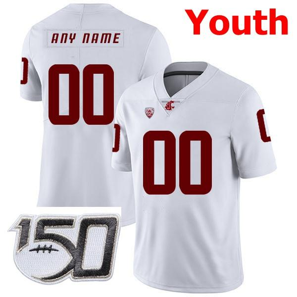 Youth White With 150th Patch