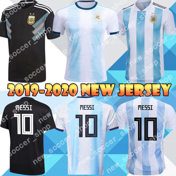 19 20 Argentine 9 Maillots de football KUN AGUERO 10 MESSI Jersey DI MARIA LAUTARO Dybala Thaïlande qualité des hommes Coupe du monde maillot de football
