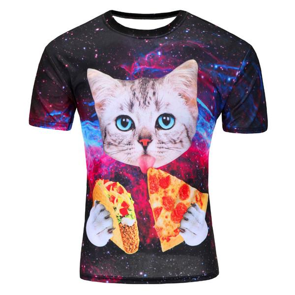 2018Newest galaxy space camiseta creativa impresa camiseta de los hombres 3d novedad del verano 3D feminina psicodélico camisetas ropa