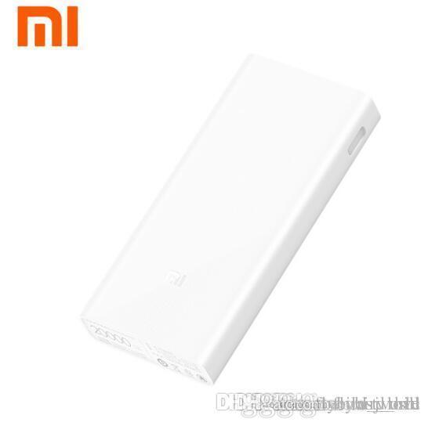 Original Mi Xiaomi Power Bank 20000 mAh 2C Two-way Carregador Rápido QC3.0 5 V / 9 V / 12 V Dual USB Bateria Externa para Telefone Tablets
