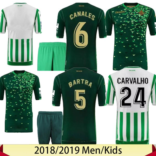 official photos 2bf9d dd930 18 19 Real Betis Soccer Jersey LO CELSO BARTRA 2018 2019 WILLIAM LOREN  Football Shirt CANALES Betis Jersey C.TELLO JOAQUIN Soccer Shirt UK 2019  From ...