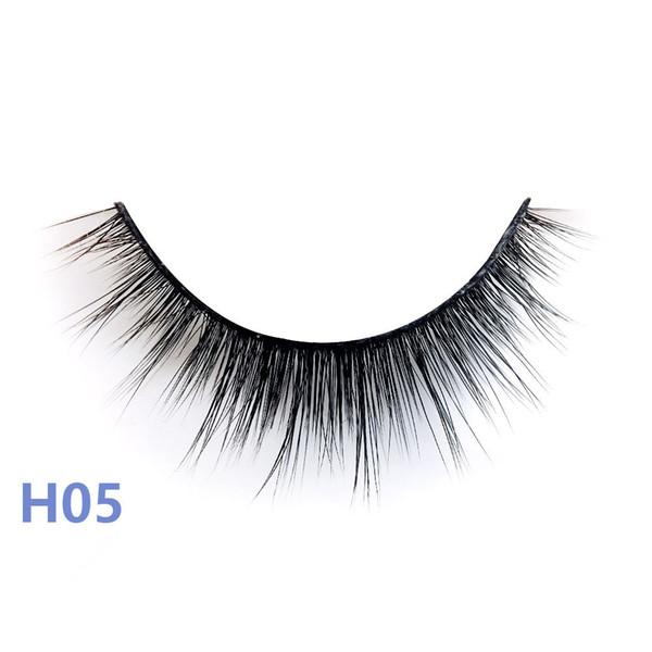 Série H style 20 vison 3D False EyeLashes 5 paires 3D Faux cils longs naturels H05