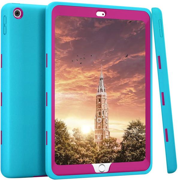 light blue+hot pink