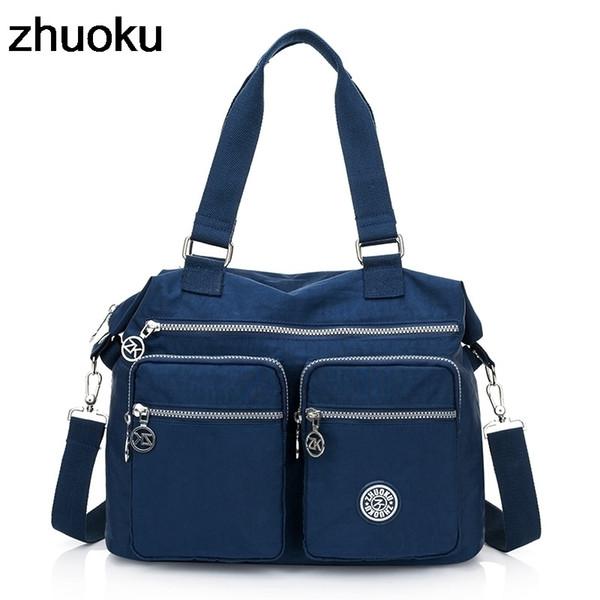 Women Top-handle Shoulder Bag Luxury Handbags Designer Nylon Messenger Bags Beach Casual Tote Female Purse Crossbody Bags Y19051502