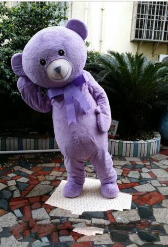 Hot sale Adult Cute BRAND Cartoon Lovely Hot Purple Bear Mascot Costume Fancy Dress