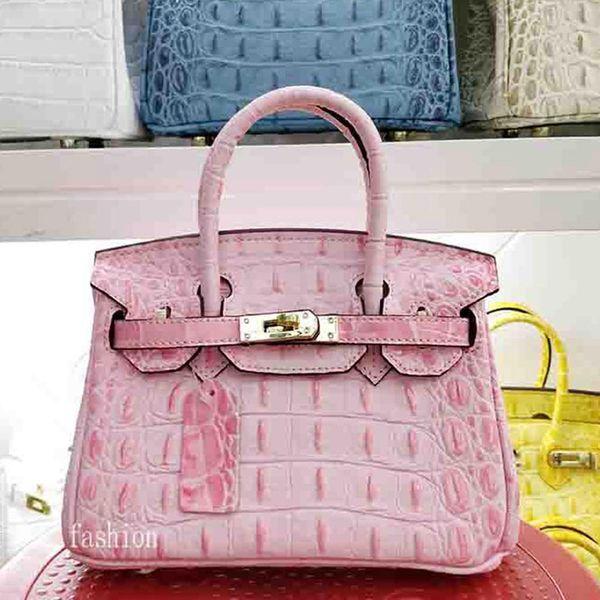 2019 Designer Luxus-Handtaschen Portemonnaie Frauen Hart Krokodil Knochen echtes Leder Crossbody Beutel Marke Modedesigner Tote Messager BagsL29