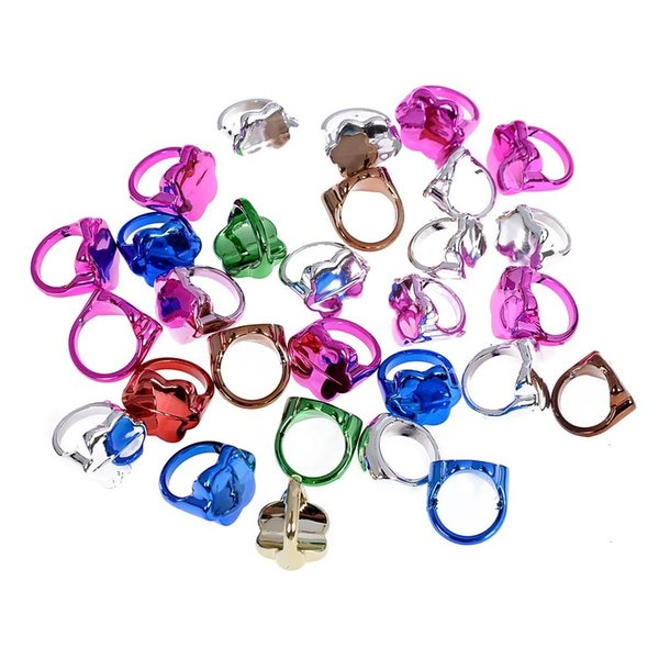 150pcs Fashion Adjustable Colorful Ring For Children For Gifts Birthday Creative Gift Random Colors Jewelry Size Diameter 13-15