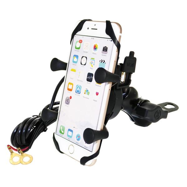 MOTOPOWER MP0609D Мотоцикл Автомобильный держатель для мобильного телефона с USB-зарядным устройством - для любого смартфона GPS - Универсальная горная дорога для мотоциклов