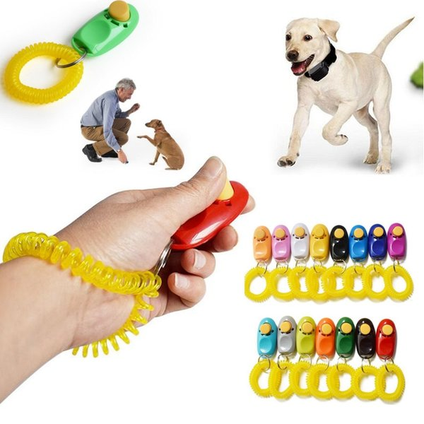 Dog Pet Click Clicker Training Wristband Multicolor Trainer Aid Wrist Strap Cheap Puppy Train Tool Wholesale
