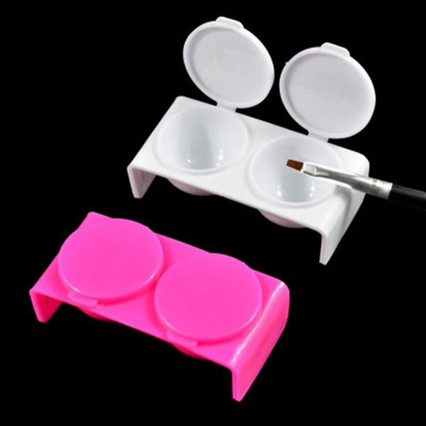 Nu-TATY Cross-border para ferramentas de unha atacado Copo de cristal de dois furos Copo de lavagem Cristal de plástico rosa vermelho branco