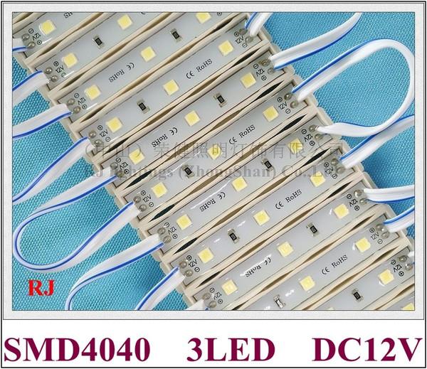 top popular SMD 4040 LED light module for sign IP65 LED module DC12V SMD4040 3 led 1W 100lm 64mm*9mm high bright energy saving 2020
