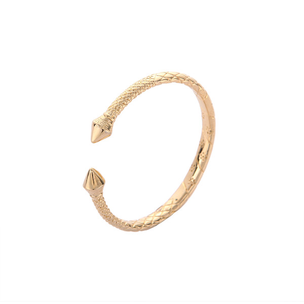 Ethiopian Real Man Jewelry Accessories Gold Color Opening Embossing Gold Bracelets Bangles For Africa Men