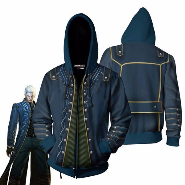 BIANYILONG 2019 new Devil May Cry Vergil Sweatshirt Jacket Advanced Tech Hoodie Cosplay zip Hoodies suit