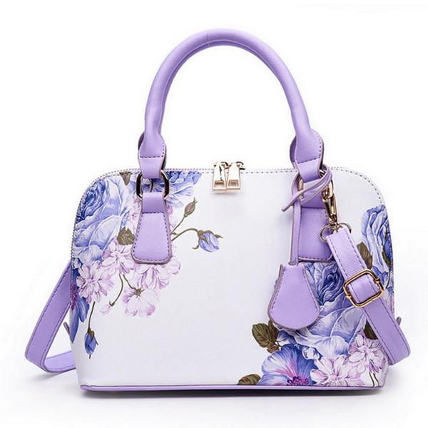 Litthing Flower Luxury Handbags Women Bag 2018 Designer Shopper Bag Floral Shell Shoulder Ladies Hand Bag Bolsa Feminina Y190612